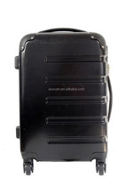 Excecllent ABS PC Black Color Cabin Case 4 Wheeled hard Luggage