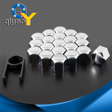 20 pcs x Chrome bbs Plastic car Wheel hub Nuts Caps Bolts Cup Covers 17mm + Removal Tool vw