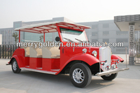 6 passengers 48V 3KW DC motor electric car, classic cheap sightseeing bus for sale