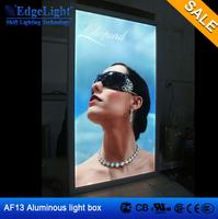 AF2 Advertising aluminum frame lighted acrylic display box