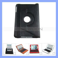 For iPad Mini Bluetooth Keyboard with Leather Case Stand