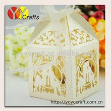 """Mini caramella scatola di"""" la sposa e lo sposo"""" bomboniera regalo taglio laser i nomi e data di nozze gratis"""