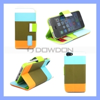 Hybrid Flip Leather Wallet Stand Case Cover for iPhone 5 5S