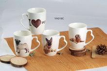2015 Wholesale Fashion design animal shaped ceramic coffee cup,ceramic travel mug