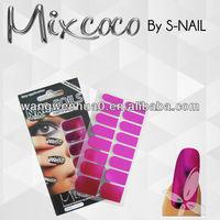wholesale nail supplies metallic nail sticker press on nails (SNF060)