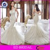 ZY003 Latest Design One Shoulder Full Lace Mermaid Open Back Wedding Dresses 2014