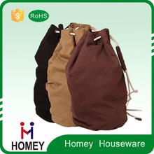 Factory custom Fashion fleece felt laundry drawstring bag