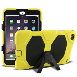 Customized cell phone accessory case for ipad mini 4 with silicone and pc material case