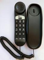 New Black Corded Home Desk Wall Mount Landline Phone Telephone Handset