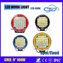 9 Inch Square LED Driving Light 160W LED Head Light High/Low Beam LED Headlight For Truck High Power LED Work Light