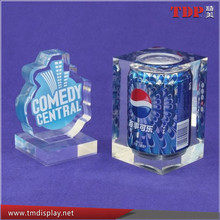 Manufacturer Clear Resin Crafts Embedment with Bottle, Resin Crafts for Business Gifts