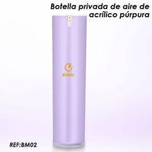 purples botellas de plásticas para embalaje cosmética