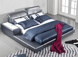COZYLAST modern upholstered soft leather bed King size Bedroom furniture