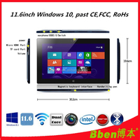 Alibaba china!!!11.6 inch touch screen windows10 tablet pc 1366 *768 8G ram LTE tablet pc