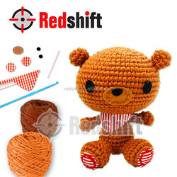 Do it yourself educational toy Crochet Bear