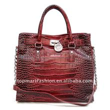 2012 newest fashion lady handbag in red color