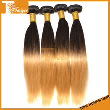 Cheap Hair Shining Hairstyle Party Celebrity Eve 6A Ombre Color Two Toned 1B/30 Hair Extension Brazilian Remy Hair Extension