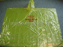 reusable emergency adults PE PVC poncho/rain coat ,print a logo outdoor activity