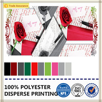 3d romantic rose printed fabric 100% polyester microfiber fabric for curtain/bed sheet/tablecloth