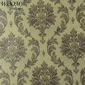 Não- tecido adamascado browny clássico europeu wallpaper design
