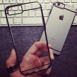 4.7inch Transparent shiny dual color dual color TPU+PC mobile phone case