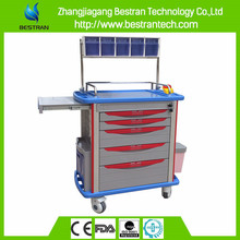 BT-AY001 Luxury five drawer hospital nursing and urgently care trolley