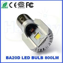 Brighter 12V 800LM Motor LED COB light BA20D High/Low Beam light 2700k 6000K Yellow White