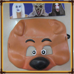 Wholesale half Face latex Silly dog mask