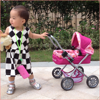 China factory 2015 child toy pet stroller,lovely baby doll stroller toy