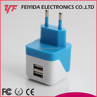 Best selling For iphone 5 blue ul dual wholesale mini usb wall charger