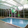 High Quality 10-year Warranty ISO Certification 100%Bayer Marolon polycarbonate swimming pool cover roof with UV Protection
