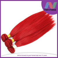 fashion look factory direct sale free sample copper red hair weave