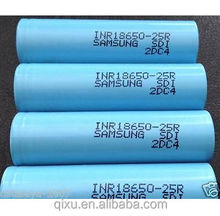 Samsung INR18650-25R 18650 2500mah 3.7V High drain 30A Samsung 18650 Li-ion Rechargeable Battery 2500mah