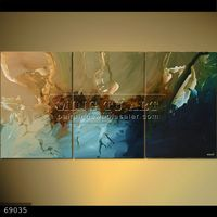 100% Handmade Group 3pieces Abstract Modern Oil Paintings on canvas,THE ROAD TO ARNAKA #69035