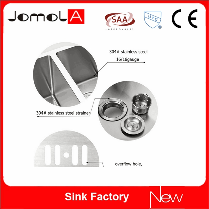 304 stainless steel kitchen sink with drain board
