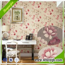 Latest fashion design deep embossed beauty sceneries interior decoration wallpapers