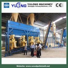 XGJ920 8/10 metric tons per /hour fir sawdust and fir/pine chips wood pellet production line