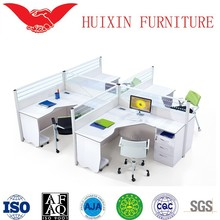 Modern and simplicity,4 person workstation,workstation partitions