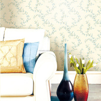 Flower pattern wall paper for decoration