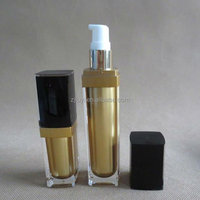 15ml/30ml Square Acrylic Cosmetic Bottle, Lotion Packaging for Skin Care