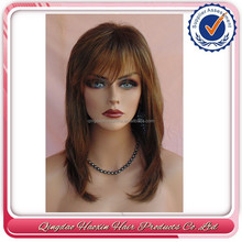 Hot beauty Color#6 highlighted 25% # 27 brazilian human hair wet and wavy weave wig