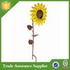2015 hot Sale garden decoration metal sunflower garden stakes