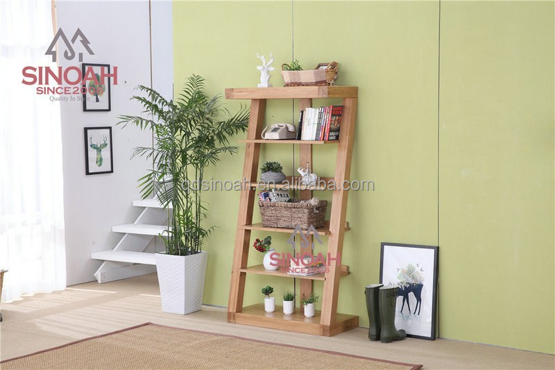 New Design Oak Wood Bookcase/ Living Room Furniture - Buy Oak Bookcase
