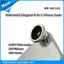 3 in 1 Wide-angle macro fisheye optical lens for mobile phone
