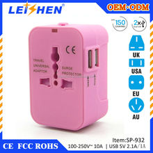 2015 new promotion 5v1a uk to euro travel plug adapter with safety shutter