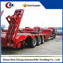 CCC low bed truck trailers for transport heavy cargo and axcavator