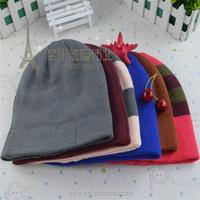 Custom Pom Pom Beanie Hats Wholesale Ski Beanie Knitted Hats and Caps
