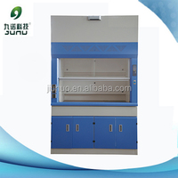 laboratory ducting fume hood with water and gas valves