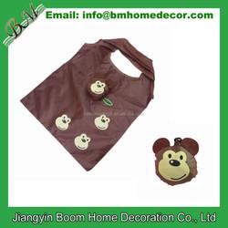 Foldable Monkey Shopping Bag / Monkey Shaped Foldable Bag / Promotional Monkey Shape Shopping Bag