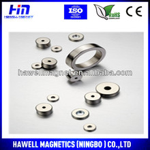 big and small nefeb ring magnet and ring magnets with NiCuNi coating, axially